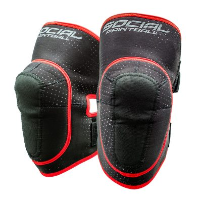 Social Paintball SMPL Knee Pads, Black Red
