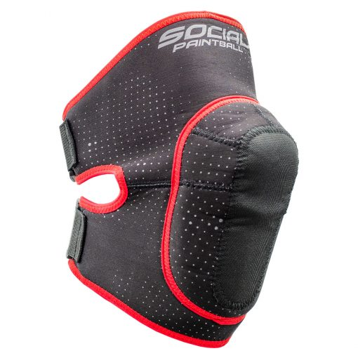 Social Paintball SMPL Knee Pads, Black Red Right
