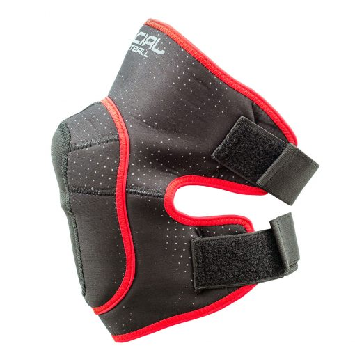 Social Paintball SMPL Knee Pads, Black Red Left