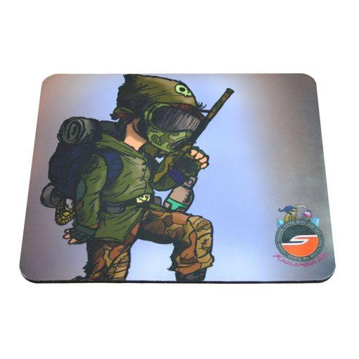 Tech Mat / Mouse Pad, Weekend Warrior, Paintball Cartoon Series