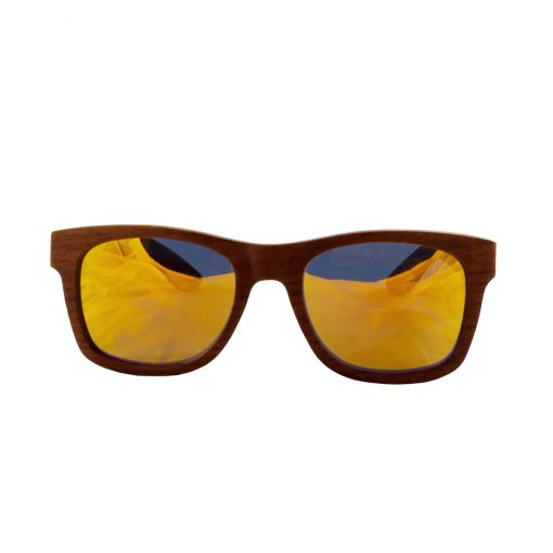 Social Paintball Rosewood Sunglasses, Yellow Mirror Lens Front