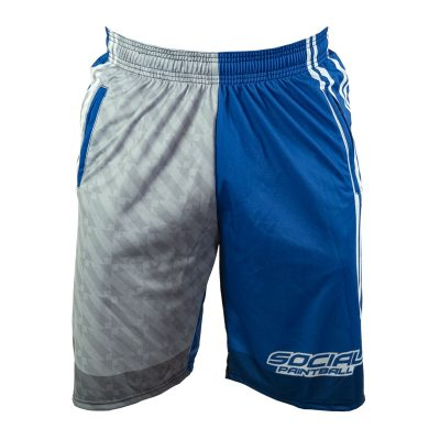 Social Paintball Grit Shorts, Blue Steel Front