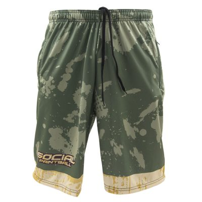 Social Paintball Grit Shorts, Grunge Front