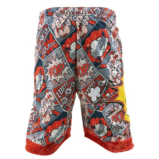 Social Paintball Grit Shorts, Pew Pop Art Back