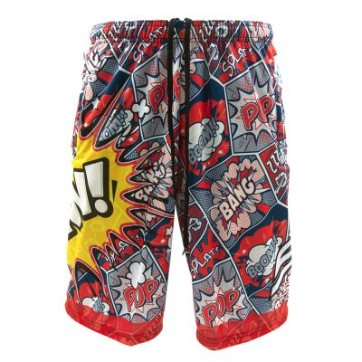 Social Paintball Grit Shorts, Pew Pop Art Front