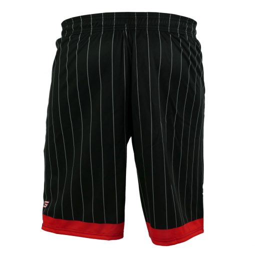 Social Paintball Grit Shorts, Red Black Pinstripe Back