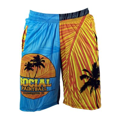 Social Paintball Grit Shorts, Tropics Front