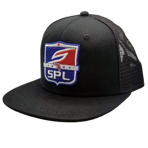 Social Paintball Snapback Hat, SPL League Shield Black