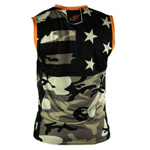 Social Paintball Grit Sleeveless Jersey, American Camo Back