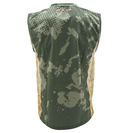 Social Paintball Grit Sleeveless Jersey, Grunge Back