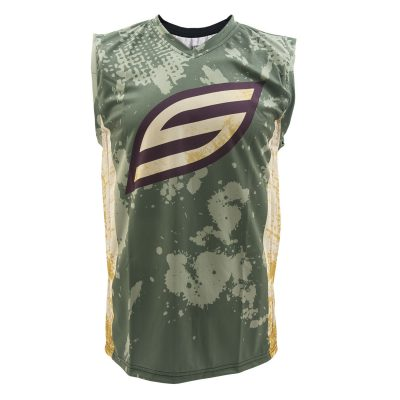 Social Paintball Grit Sleeveless Jersey, Grunge Front