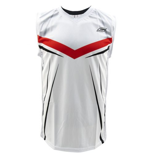 Social Paintball Grit Sleeveless Jersey, Silver Streak Front