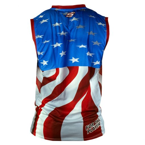 Social Paintball Grit Sleeveless Jersey, Social USA Back