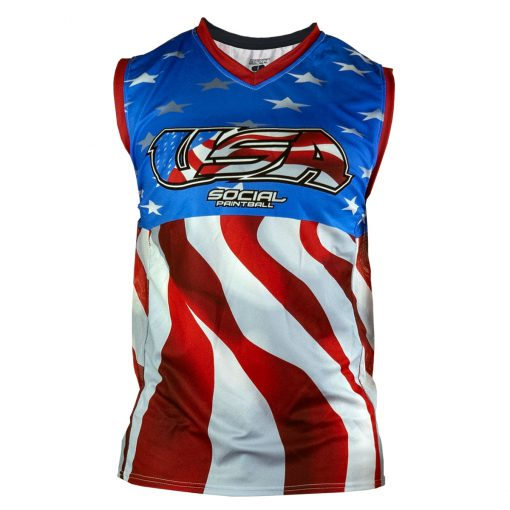 Social Paintball Grit Sleeveless Jersey, Social USA Front