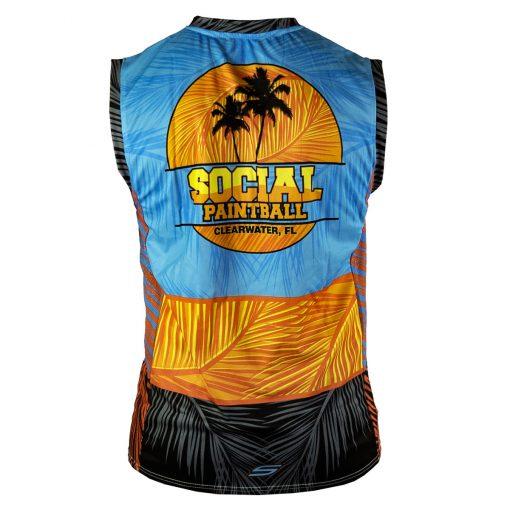 Social Paintball Grit Sleeveless Jersey, Tropics Back