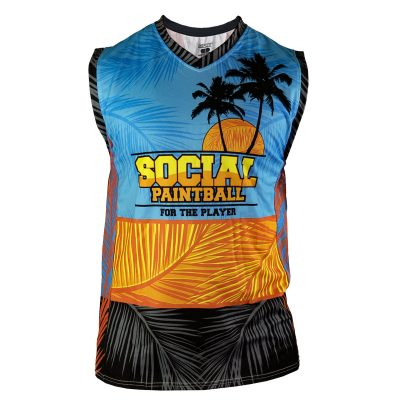 Social Paintball Grit Sleeveless Jersey, Tropics Front