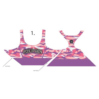 Fox's Den Grit Women's Racerback Padded Sports Bra, Blossom Edge Camo