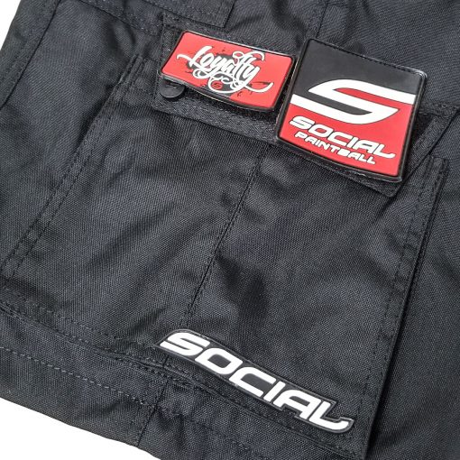 Grit v3 Paintball Shorts, Stealth Black Cargo Pocket Zoom