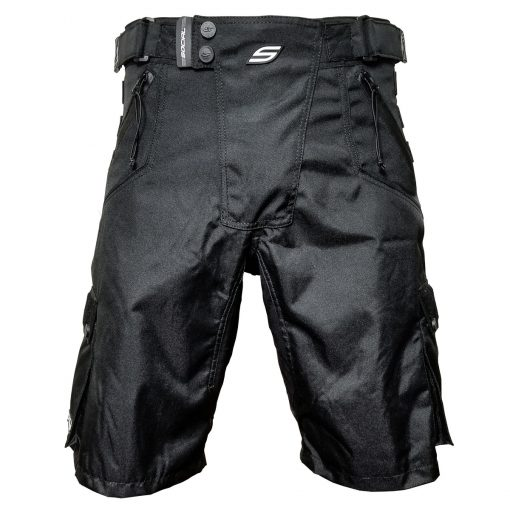 Grit v3 Paintball Shorts, Stealth Black Front
