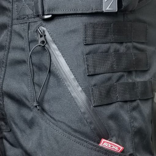 Grit v3 Paintball Shorts, Stealth Black Water Proof Zipper Zoom