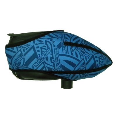 Social Paintball Omni Universal Hopper Cover, Blue Social Pattern Side