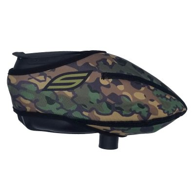 Social Paintball Omni Universal Hopper Cover, Foxwood Camo Side