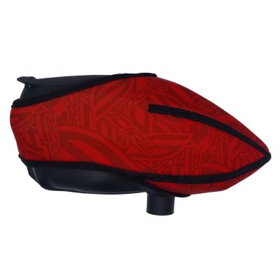 Social Paintball Omni Universal Hopper Cover, Red Social Pattern Side