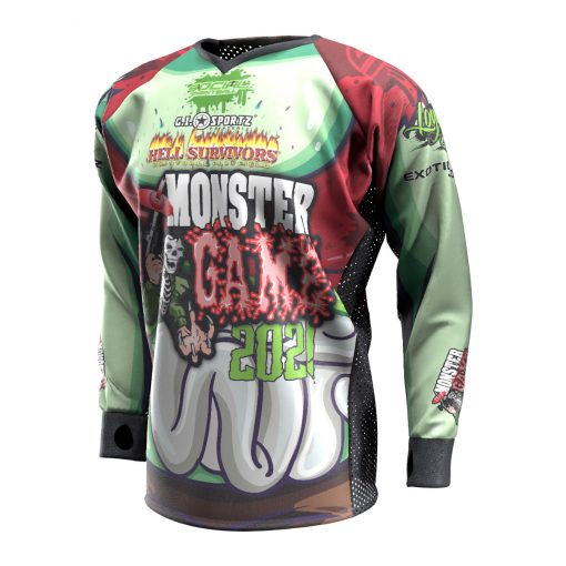 2021 Michigan Monster Game Custom Event SMPL Jersey, Red Team Front