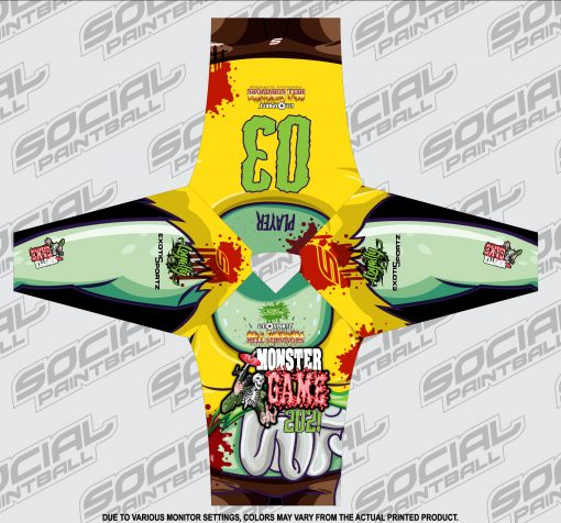 2021 Michigan Monster Game Custom Event SMPL Jersey, Yellow Team Flat