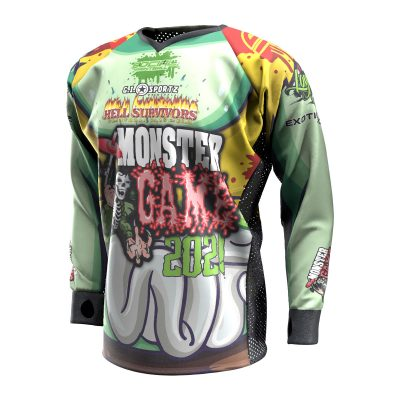 2021 Michigan Monster Game Custom Event SMPL Jersey, Yellow Team Front