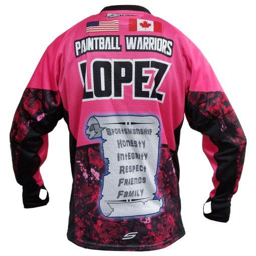 Fox's Den Unpadded SMPL Jersey, Attack Pink Back