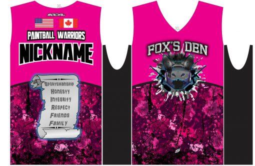 Fox's Den Sleeveless Jersey, Attack Pink Flat