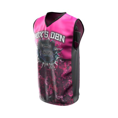 Fox's Den Sleeveless Jersey, Attack Pink Front
