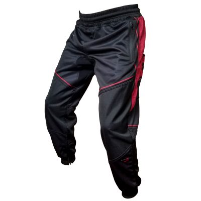 Grit J1 Paintball Jogger Pants, Black Red Side Angle