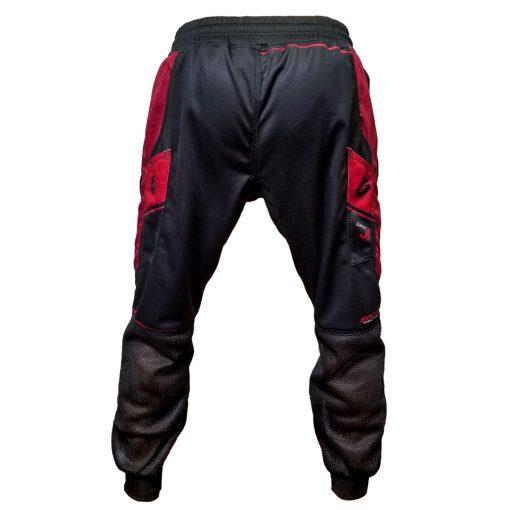 Grit J1 Paintball Jogger Pants, Black Red Back