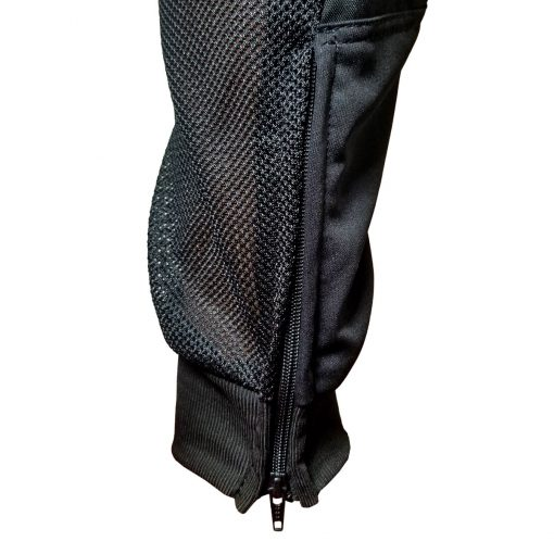 Grit J1 Paintball Jogger Pants, Black Red Ankle Cuff Zipper