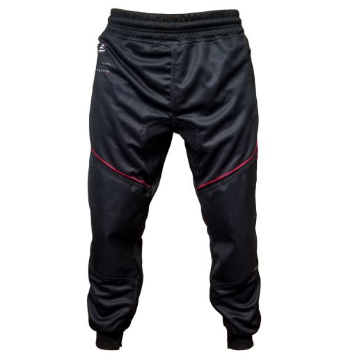 Grit J1 Paintball Jogger Pants, Black Red Front
