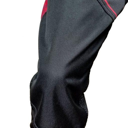 Grit J1 Paintball Jogger Pants, Black Red Knee Zoom