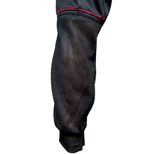 Grit J1 Paintball Jogger Pants, Black Red Leg Mesh