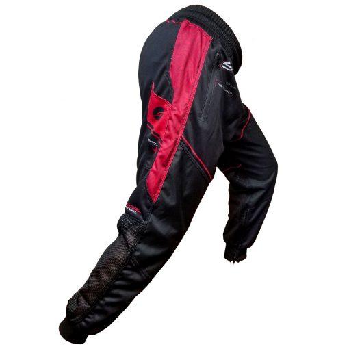 Grit J1 Paintball Jogger Pants, Black Red Side