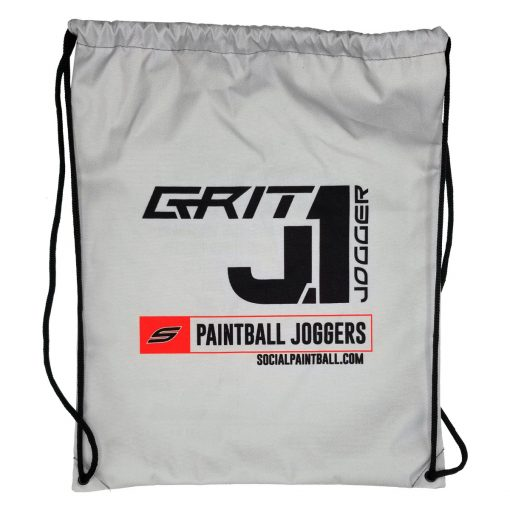 Grit J1 Paintball Jogger Pants, Black Red Draw String Bag