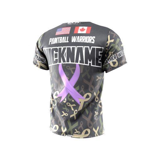 Fox's Den Grit Shirt, Charity Ribbon Camo No Logo Back