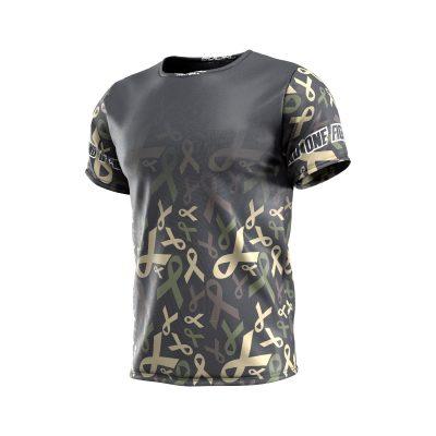 Fox's Den Grit Shirt, Charity Ribbon Camo No Logo Front